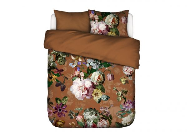 Essenza Home dekbedovertrek flanel Fleurel leather brown