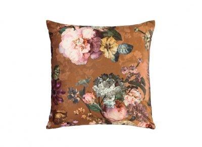 Essenza Home sierkussen Fleur leather brown