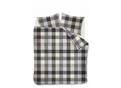 Beddinghouse dekbedovertrek flanel Beckett grey