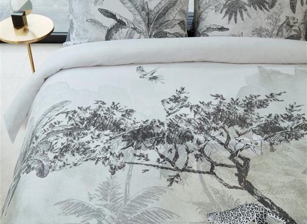 Beddinghouse dekbedovertrek Brazil black white