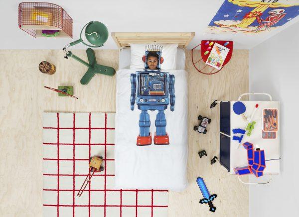 Snurk dekbedovertrek Robot