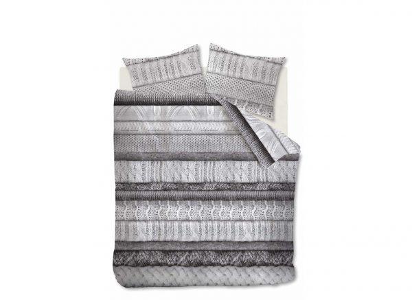 Riviera Maison dekbedovertrek Tricot Chaud grey