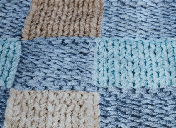 Ariadne at Home dekbedovertrek Wool Shades blue