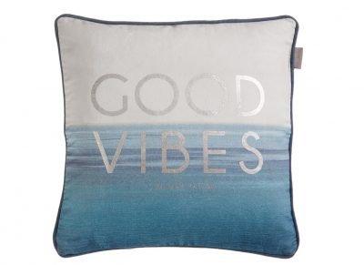 Riviera Maison sierkussen Good Vibes blue