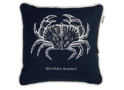 Riviera Maison sierkussen Crabby Blue