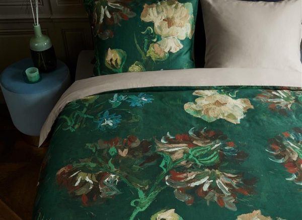 Beddinghouse x Van Gogh Museum dekbedovertrek Peonies green