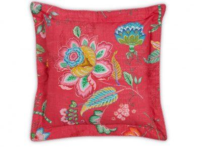 Pip Studio sierkussen Jambo Flower red 45×45