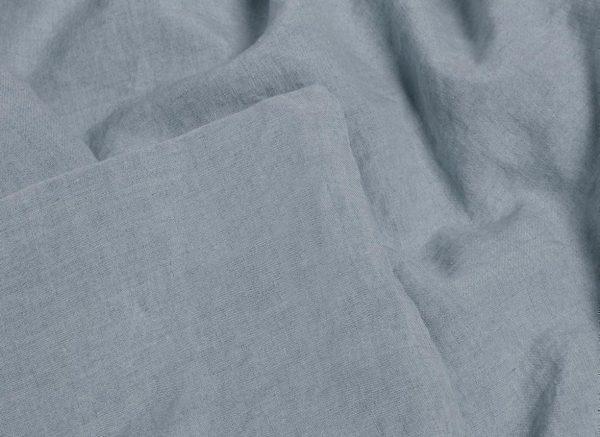 Yumeko dekbedovertrek washed linen dusk blue