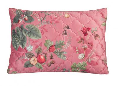 Pip Studio quilted sierkussen Fall in Leaf pink