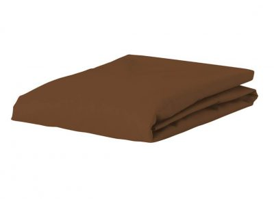 Essenza Home Premium Jersey hoeslaken, leather brown