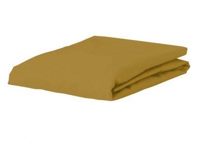 Essenza Home Premium Jersey hoeslaken, mustard