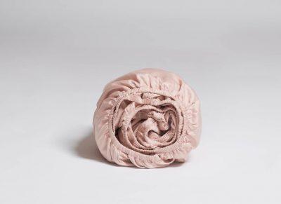 Yumeko hoeslaken katoen satijn dusty rose