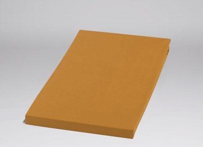 Yumeko hoeslaken katoen perkal ochre yellow