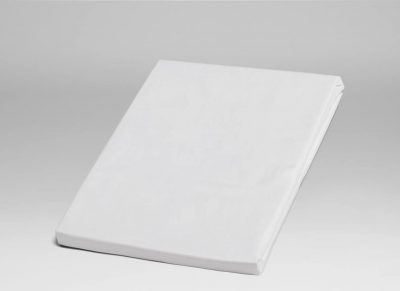 Yumeko hoeslaken katoen perkal pure white