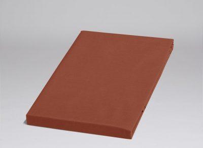 Yumeko hoeslaken katoen perkal rusty red