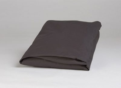 Yumeko hoeslaken katoen perkal dark grey