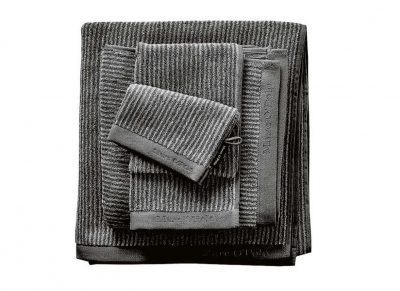 Marc O'Polo badgoed Timeless Tone Stripe anthracite/silver