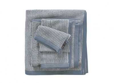 Marc O'Polo badgoed Timeless Tone Stripe smoke blue/off white