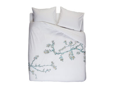 Beddinghouse x Van Gogh Museum dekbedovertrek Embroidered Blossom white