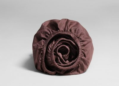 Yumeko hoeslaken katoen satijn rose brown