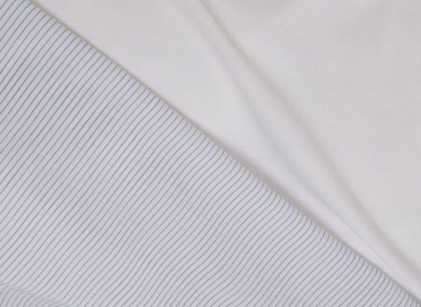 Yumeko dekbedovertrek katoen Tencel double face white stripe / pure white
