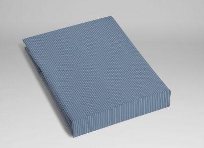 Yumeko hoeslaken katoen Tencel blue stripe