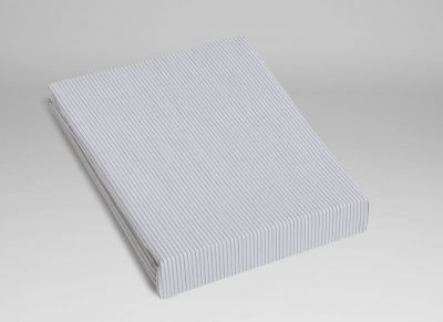 Yumeko hoeslaken katoen Tencel white stripe