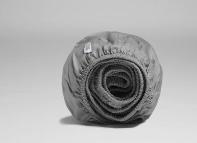 Yumeko hoeslaken katoen satijn stone grey