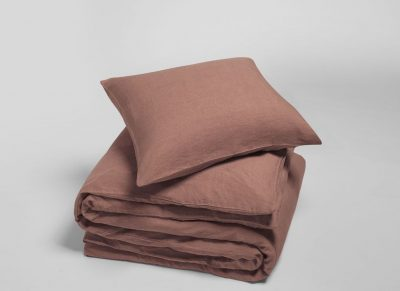 Yumeko dekbedovertrek  washed linen clay rose