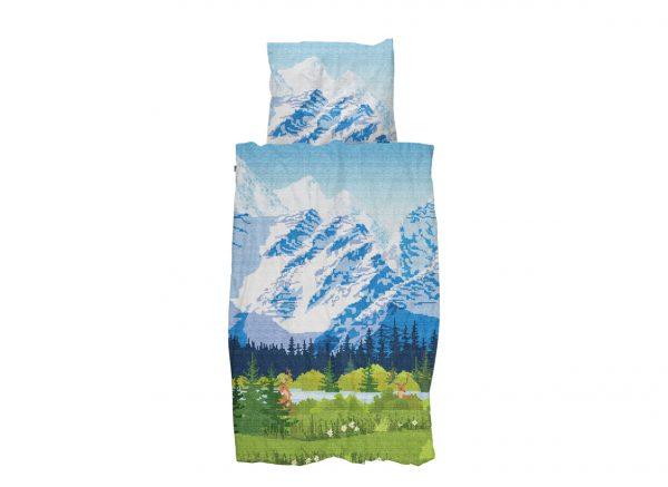 Snurk dekbedovertrek flanel Across The Alps