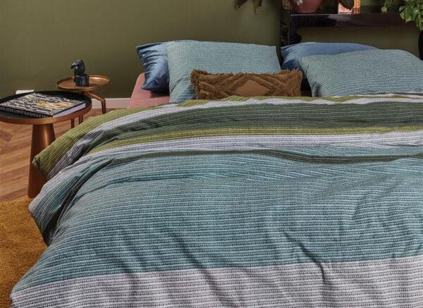 At Home by BeddingHouse dekbedovertrek Comprise groen