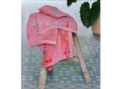 PIP Studio handdoek Les Fleurs roze