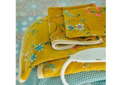 PIP Studio handdoek Les Fleurs geel
