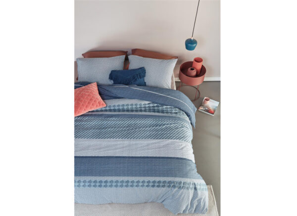 Beddinghouse dekbedovertrek Webbing blauw