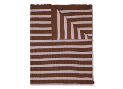 Marc O'Polo plaid Structure knit toffee brown