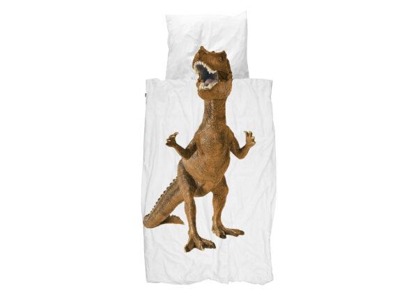 Snurk dekbedovertrek Dinosaurus Rex brown