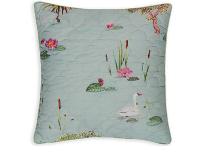 Pip Studio sierkussen Little Swan grey quilted 45×45