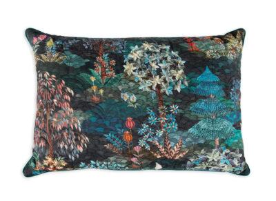 Pip Studio quilted sierkussen Garden dark blue 45×70