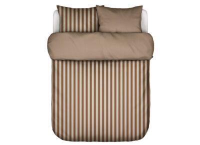 Marc 'O Polo dekbedovertrek Classic Stripe toffee brown