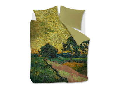 Beddinghouse x Van Gogh Museum dekbedovertrek Evening Twilight ochre