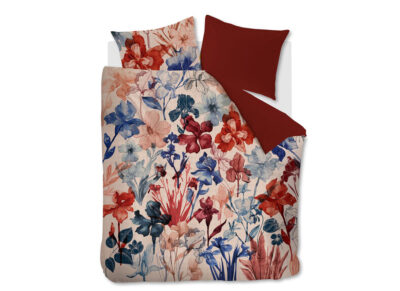 Beddinghouse dekbedovertrek Iris Field red