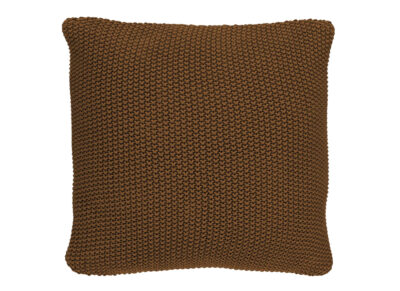 Marc 'O Polo sierkussen Nordic knit toffee brown 50x50